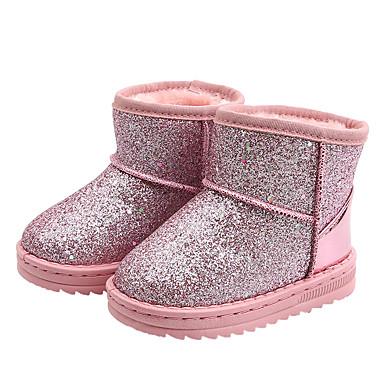 povoljno Beba & Djeca-Djevojčice Čizme za snijeg Sintetika Čizme Mala djeca (4-7s) / Velika djeca (7 godina +) Crn / Pink Zima / Čizme gležnjače / do gležnja / Guma