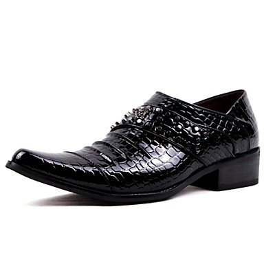 Férfi Formális cipők Szintetikus Tavasz / Ősz Alkalmi / Brit Papucsok & Balerinacipők Csúszásmentes Fekete / Burgundi vörös / Party és Estélyi / Szegecs / Party és Estélyi / Oxfords nyomtatása