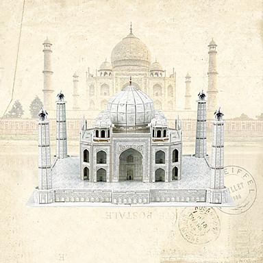levne 3D puzzle-Vzdělávací hračka Hračky Dům Taj Mahal profesionální úroveň Papír EPS 87 Pieces