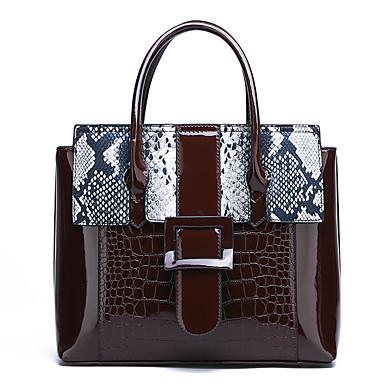 cheap New Arrivals Discount-Women's Embossed PU Top Handle Bag Snakeskin Black / Dark Brown / Purple