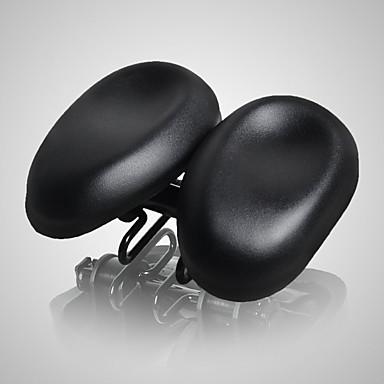 abordables Piezas y Componentes para Bicicleta-Acacia Sillín de Bicicleta Ajustable Extra Ancho Almohadilla doble ergonómica Doble sin nariz Cuero de PU Espuma de Alta Densidad PVC Ciclismo Bicicleta de Pista Bicicleta de Montaña Negro