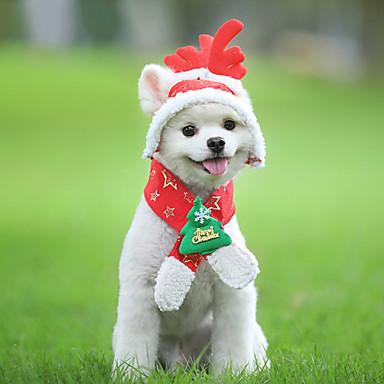 Kutyák Jelmezek Tél Kutyaruházat Melegen tartani Piros Karácsony Jelmez Polyster Hópehely Karácsony Szerepjáték S M L XL XXL