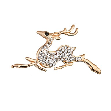 levne Dámské šperky-Dámské Brože Klasika Elk Klasické Casual / Sportovní Geleneksel Lidová Style Brož Šperky Zlatá Pro Vánoce Párty Dar