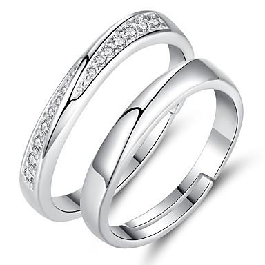 levne Pánské šperky-Pánské Dámské manžeta Ring 1ks Stříbrná Slitina Sladký Módní Dar Denní Šperky