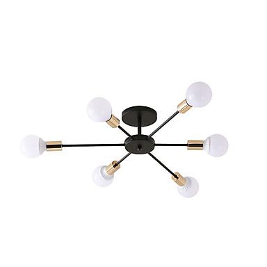 6-Light Vonalizzó Mennyezeti lámpa Háttérfény Galvanizált Festett felületek Fém Új design 110-120 V / 220-240 V