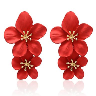 voordelige Dames Sieraden-Dames Druppel oorbellen Zin in hebben Bloem oorbellen Sieraden Wit / Geel / Rood Voor Dagelijks Feestdagen Werk Club Bar