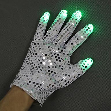 preiswerte Leuchten Spielwaren-LED - Beleuchtung LED Handschuhe Fingerlichter Sport Hände Tanzen Baumwolle / Polyester Pailetten Erwachsene Alles Spielzeuge Geschenk 2 pcs