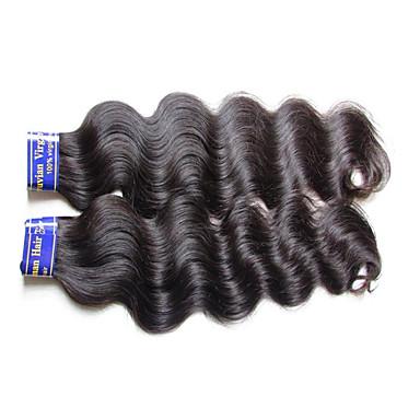 2 csomag Perui haj Hullámos haj Szűz haj Kémiai anyagoktól mentes / nyers Az emberi haj sző 10