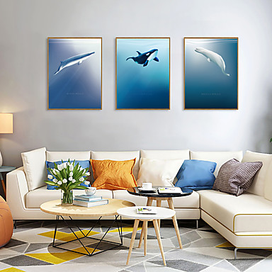 cheap Wall Art-Framed Art Print Framed Set - Animals Botanical PS Illustration Wall Art