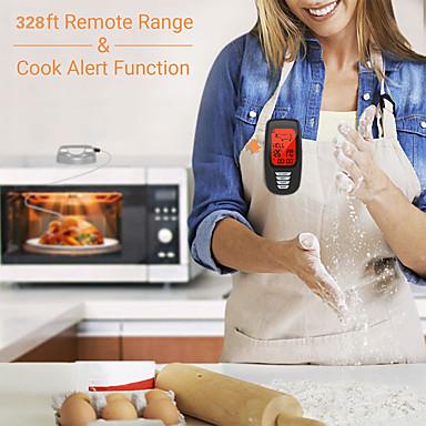 preiswerte Meßwerkzeuge-Backlit Timing Küche mit Sonde drahtlose Fernbedienung genaue Grillthermometer digitale Fleisch Grill Alarm Ofen tragbare Lebensmittel kochen