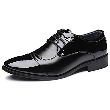 Férfi Kényelmes cipők PU Ősz Alkalmi Félcipők Csúszásmentes Fekete / Barna