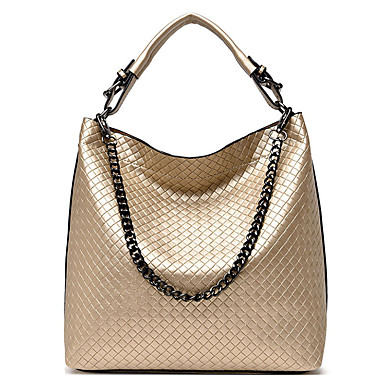 cheap New Arrivals Discount-Women's Straw / PU Top Handle Bag Solid Color Black / Gold / Blue