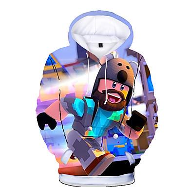 cheap Baby & Kids-Kids Toddler Boys' Basic Print Print Long Sleeve Hoodie & Sweatshirt Rainbow