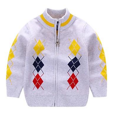 povoljno Odjeća za dječake-Djeca Dječaci Osnovni Print Dugih rukava Džemper i kardigan Red