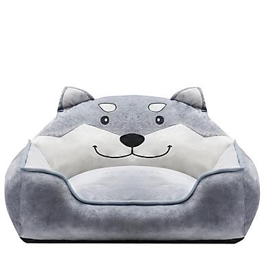 preiswerte Hundebetten & Decken-Hunde Katzen Betten Spinnwolle Baumwolle Haustiere Einsätze Tier Warm Waschbar Elasthan Grau
