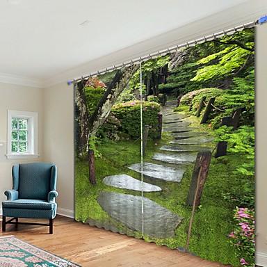 erdei sziklaút digitális nyomtatás 3d függöny árnyékoló függöny nagy pontosságú fekete selyem anyagból kiváló minőségű függöny