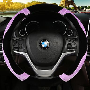 billige Interiørtilbehør til bilen-nye plysj satt sett søt tegneserie lady koreansk varm bil ratt sett