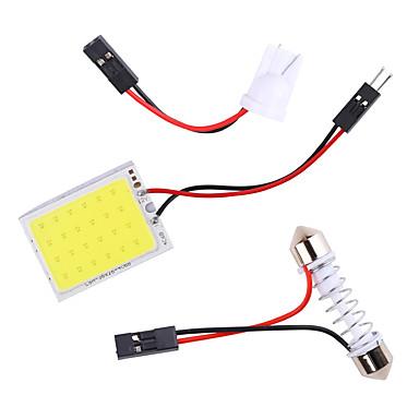 stor kampanje t10 cob 24 36 48smd festoon dome ba9s 3 adaptere led lys panel bilinteriør lesekart parkeringspære lampe dc12v