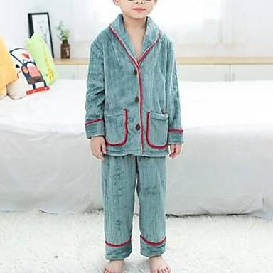 preiswerte Unterwäsche & Socken für Jungen-Kinder Jungen Solide Schlafanzüge Grün