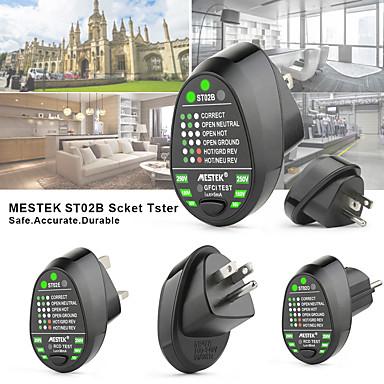 levne Testovací, měřící a kontrolní vybavení-MESTEK ST02 Tester zásuvky Digitální displej Kontrola pro domácí instalaci