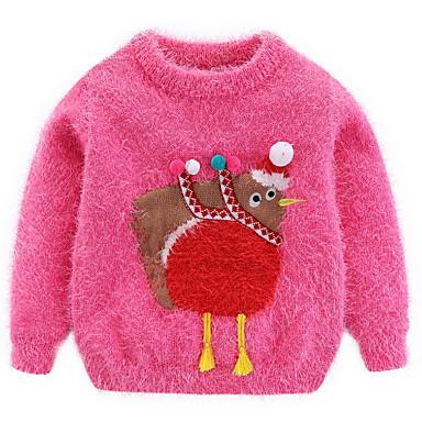 tanie Swetry i kardigany dla dziewczynek-Brzdąc Dla dziewczynek Aktywny Geometric Shape Nadruk Długi rękaw Sweter i kardigan Fuksja