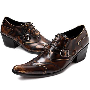 preiswerte Schuhe und Taschen-Herrn Formal Schuhe Nappaleder Frühling / Herbst Winter Freizeit / Britisch Outdoor Rutschfest Braun / Party & Festivität