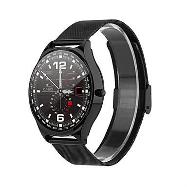 povoljno Pametni satovi-w18 smartwatch nehrđajući čelik bt fitness tracker podrška obavijesti / monitor brzine otkucaja sporta pametni sat za samsung / iphone / android telefone