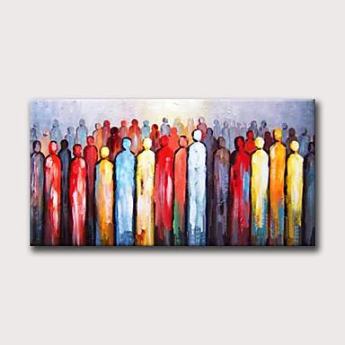Hang oslikana uljanim bojama Ručno oslikana - Sažetak Ljudi Moderna Bez unutrašnje Frame