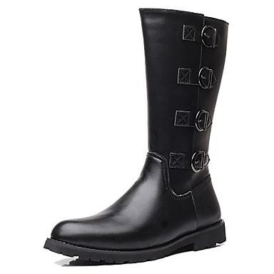 Férfi Fashion Boots Szintetikus Tél / Ősz & tél Vintage / Brit Csizmák Melegen tartani Hosszú szárú csizmák Fekete / Party és Estélyi
