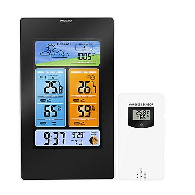 falióra, modern kortárs-állomás többfunkciós digitális óra hőmérséklet páratartalom despertador holdfázisú asztali asztal LCD ébresztőóra műanyag szabálytalan beltéri