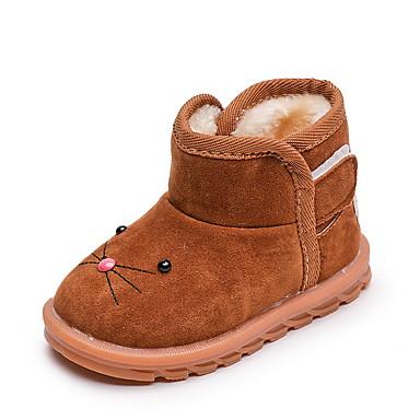 preiswerte Schuhe für Kinder-Mädchen Schneestiefel Wildleder Stiefel Kleine Kinder (4-7 Jahre) Braun / Fuchsia / Rosa Winter / Mittelhohe Stiefel