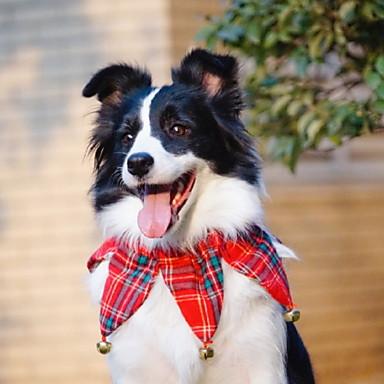 Kutyák Macskák Házi kedvencek Nyakpántok és kalapok Kutyakendő Tél Kutyaruházat Piros Jelmez Polyster Egyszínű Csipke Szerepjáték Karácsony