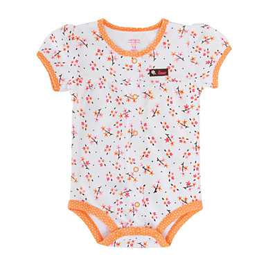 cheap Baby & Kids-Baby Girls' Active / Basic Floral / Print Print Short Sleeves Romper White