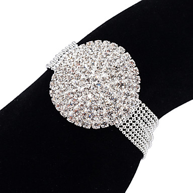 levne Dámské šperky-Dámské Tenisové Náramky Náramek Tenisový řetězec Princezna Moderní korejština Módní Elegantní Umělé diamanty Náramek šperky Stříbrná Pro Párty Zásnuby Dar Denní