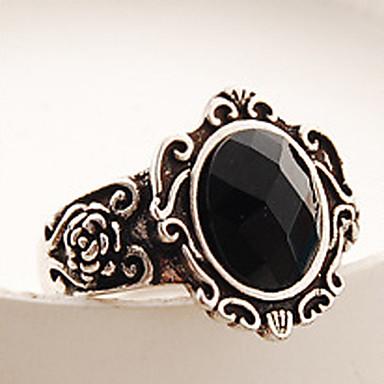 levne Dámské šperky-Dámské Band Ring Prsten 1ks Černá Slitina Geometric Shape Vintage Módní Halloween Denní Šperky Retro styl Drahocenný Cool