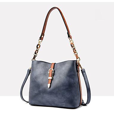 cheap Crossbody Bags-Women's Zipper PU Crossbody Bag Color Block Black / Wine / Yellow
