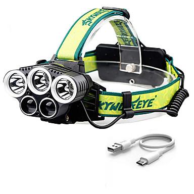 preiswerte Taschenlampen-Stirnlampen LED Sender Verstellbar Windundurchlässig Einfach zu tragen Langlebig Camping / Wandern / Erkundungen Für den täglichen Einsatz Radsport Grün Rot