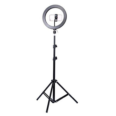 cheap Camera & Photo-Photography led self timer ring light 26cm metal dimmable photography / mobile phone ring light with 110 / 160cm tripod for makeup video studio