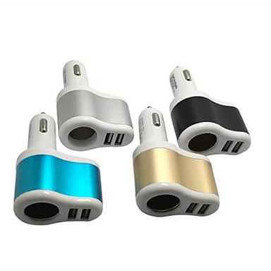 levne Auto Elektronika-vysoce kvalitní 3.1a duální 2 usb auto nabíjení cigaretový zapalovač napájecí zásuvka adaptér splitter auto vnitřní nabíječka pro mobilní telefon