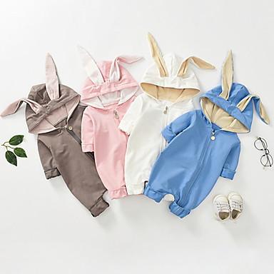 povoljno Odjeća za bebe-4 komada Dijete Djevojčice Aktivan / Osnovni Jednobojni Dugih rukava Kombinezon Obala