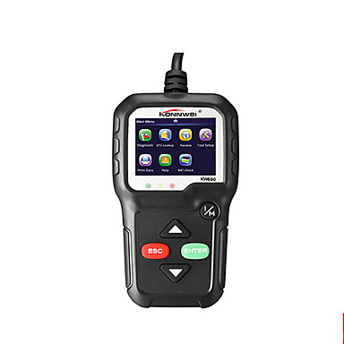 baratos Acessórios Automotivos de Interior-Konnwei kw680 obd2 scanner obd car diagnostic auto ferramenta de diagnóstico ler códigos de erro de falha clara obd2 scanner automotivo