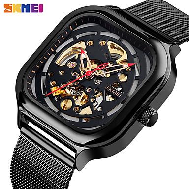 levne Pánské-SKMEI Inteligentní hodinky Automatické natahování Moderní styl Sportovní 30 m Voděodolné S dutým gravírováním Hodinky na běžné nošení Analogové Na běžné nošení Módní - Černá Růžové zlato Zlatá