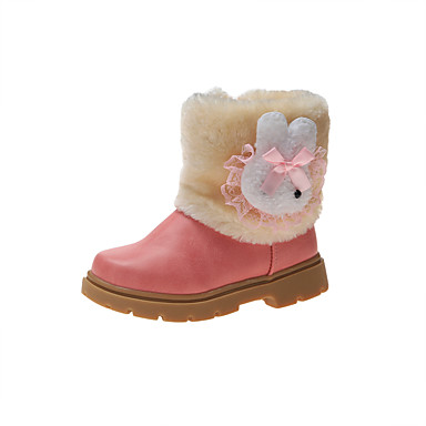 cheap For ages 7yrs+-Girls' Snow Boots Synthetics Boots Little Kids(4-7ys) / Big Kids(7years +) Fuchsia / Pink / Khaki Fall / Winter