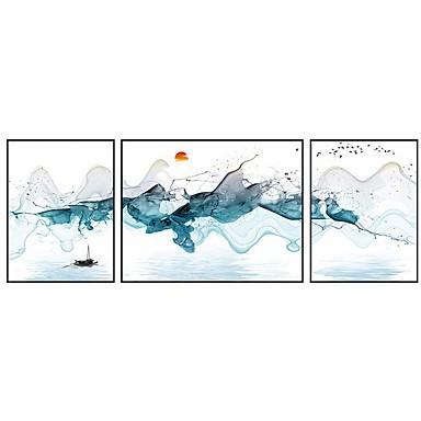 preiswerte Kunstdrucke-Druck Gerollte Leinwand Modern Drei Paneele Kunstdrucke