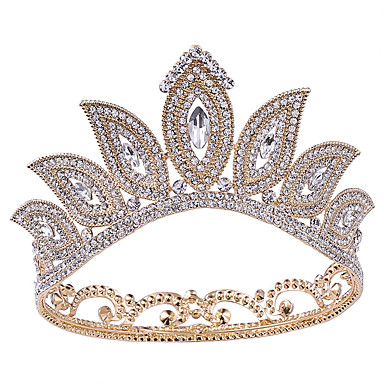 povoljno Party pokrivala za glavu-PF bakelit tijare s Kristal / Crystal / Rhinestone / Metal 1 komad Vjenčanje / Rođendan Glava