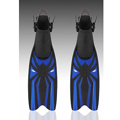 ดำน้ำตีนกบ ตีนกบ เครื่องมือไม่จำเป็นต้อง Adjustable Fit Long Blade การว่ายน้ำ การดำน้ำ Snorkeling พลาสติก - สำหรับ ผู้ใหญ่ น้ำเงินเข้ม สีเหลือง