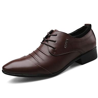 cheap Men's Shoes-Men's Comfort Shoes PU Fall & Winter Oxfords Black / Brown / White