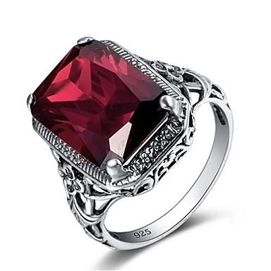 levne Pánské šperky-Pánské Prsten 1ks Stříbrná Postříbřené Geometric Shape Módní Denní Dovolená Šperky Kytky Cool