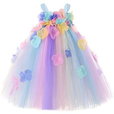 お買い得  赤ちゃんウェア-赤ちゃん 女の子 ベーシック カラーブロック ノースリーブ ドレス ブルー
