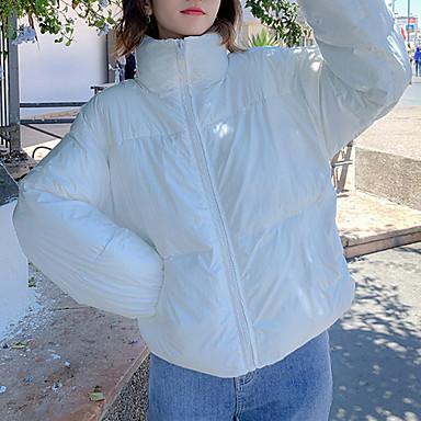 levne Novinky-Dámské Jednobarevné Standardní S vycpávkou, Bavlna / Polyester Černá / Bílá / Světlá růžová M / L / XL